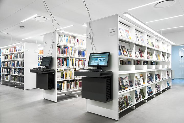 图书馆阅览架@国际学校图书馆家具