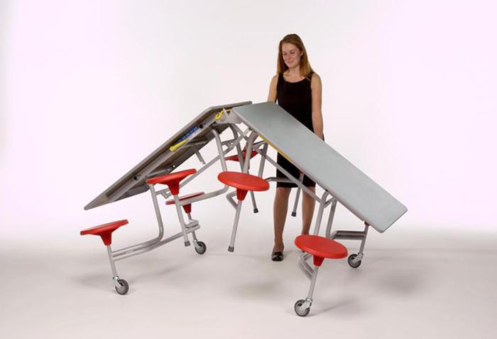 Sico移动餐桌|可折叠餐桌|餐厅家具|学校家具|校园家具-【OF365学校家具网】